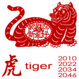 год тигра иллюстрация штока