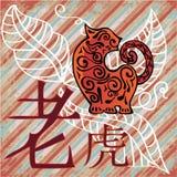 год тигра horoscope фарфора бесплатная иллюстрация