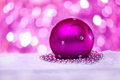 год шарика новый розовый Стоковая Фотография