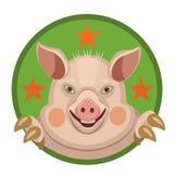 Год эмблемы 2019 свиньи стоковые фото