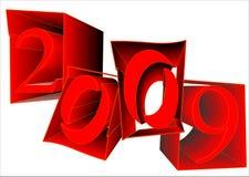 год 2009 знаков Стоковые Изображения RF