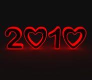 год 2010 влюбленностей Стоковые Изображения