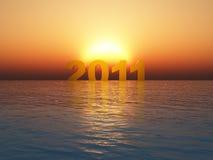 год 2011 захода солнца Стоковые Фотографии RF