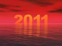 год 2011 захода солнца Стоковая Фотография