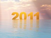 год 2011 захода солнца Стоковые Изображения RF