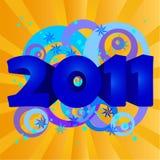 год 2011 иллюстрации Стоковое Фото