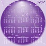 год 2011 календара полный Стоковые Изображения