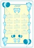 год 2011 календара полный Стоковое Изображение