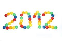 год 2012 конфеты Стоковое фото RF