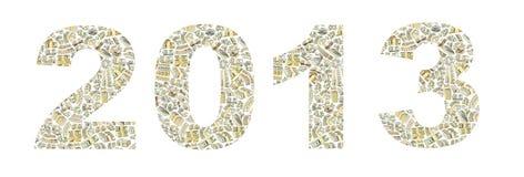 Год 2013 от долларов Стоковое фото RF