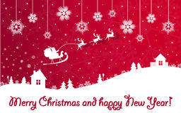 год claus новый красный santa рождества знамени Стоковое Изображение RF
