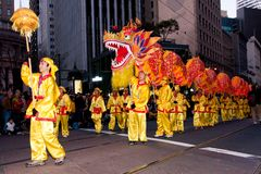 год san парада francisco 2012 китайцев новый Стоковые Изображения