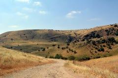 Голанские высоты на летнем дне в Израиле Стоковые Изображения RF