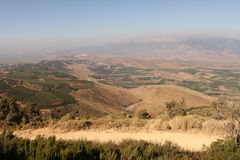 Голанские высот Израиль galilee Стоковое Изображение