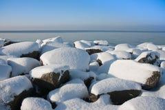 голландец волнореза трясет wintertime Стоковые Изображения RF