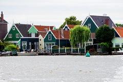 Голландия, ветрянки Zaanse Schans Стоковая Фотография