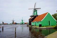 Голландия, ветрянки Zaanse Schans Стоковая Фотография RF