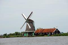 Голландия, ветрянки Zaanse Schans Стоковое фото RF