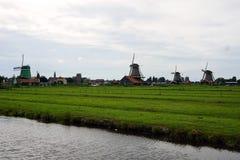 Голландия, ветрянки Zaanse Schans стоковые изображения rf