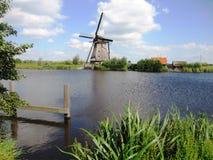 голландская ветрянка ландшафта Стоковая Фотография RF