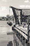 Голландская ветрянка, сельская местность Амстердама, Нидерланды стоковое фото rf