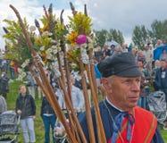 голландская гильдия празднества terheijden село стоковые фотографии rf