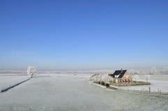 голландская зима ландшафта Стоковое Изображение