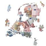 голландская карта зигзага евро иллюстрация вектора
