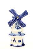 голландская миниая ветрянка фарфора Стоковая Фотография RF