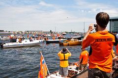 голландская удостоя команда футбола Стоковое Фото