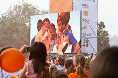 голландская удостоя команда футбола Стоковая Фотография RF