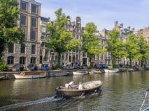голландские дома в Амстердам Стоковое Изображение
