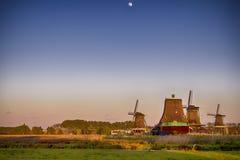 голландские исторические ветрянки Стоковое Изображение
