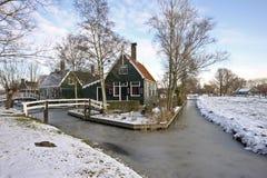 голландские Нидерланды дома традиционные стоковые изображения rf