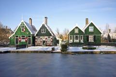 голландские Нидерланды домов традиционные стоковое фото