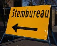 Голландский голосуя знак офиса Стоковое Фото
