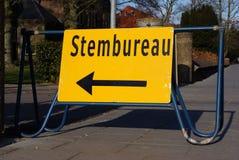 Голландский голосуя знак офиса Стоковая Фотография RF
