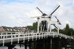 Голландский город Лейдена Стоковые Изображения RF