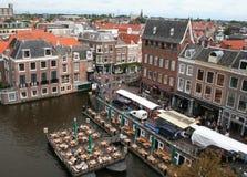 Голландский город Лейдена Стоковое Изображение