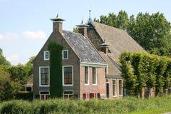 голландский сельский дом типичный Стоковые Изображения RF