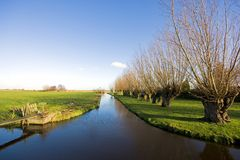 голландский сельский пейзаж Стоковые Изображения