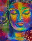 Голова акварели Будды Стоковая Фотография RF