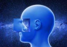 Голова внутри другой головы Стоковое фото RF