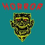Голова демона с сорванной стороной также вектор иллюстрации притяжки corel Стоковые Изображения