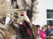Голова костюма Kurent стоковое изображение rf