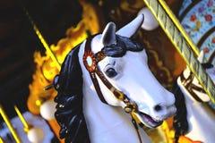 Голова лошади, carousel, потеха Стоковое Изображение