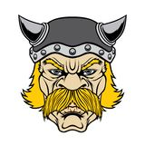 Голова ратника Викинга иллюстрация штока