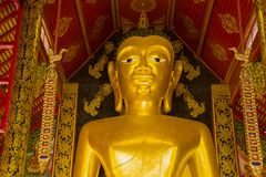 Голова статуи Будды гиганта Chiang Rai, Таиланд стоковые фото