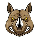 Голова талисмана носорога иллюстрация вектора