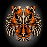 Голова тигра утюга иллюстрация вектора